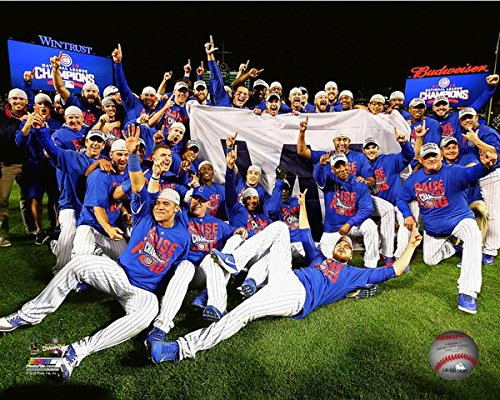 (Chicago Cubs 2016 NLCS Game 6 Team Celebration Photo (8