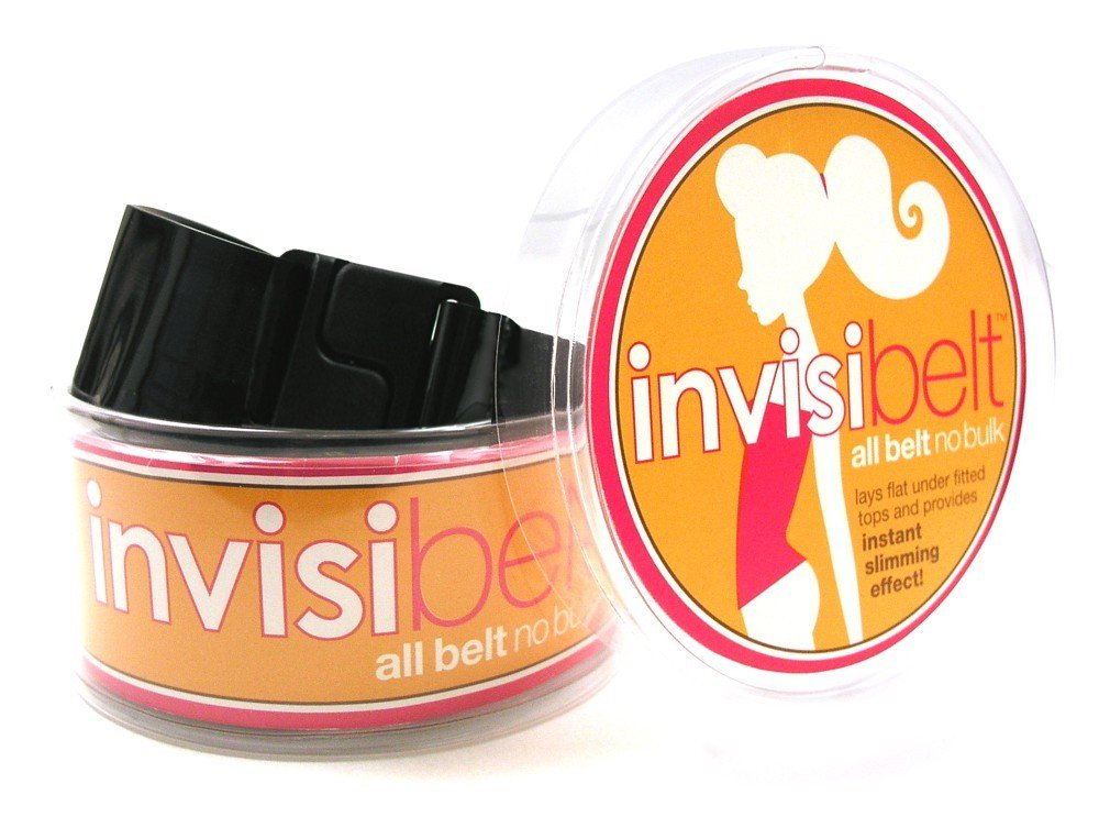 Women's Belt: No-Show Adjustable Belt Lays Flat Under Fitted Tops By Invisibelt
