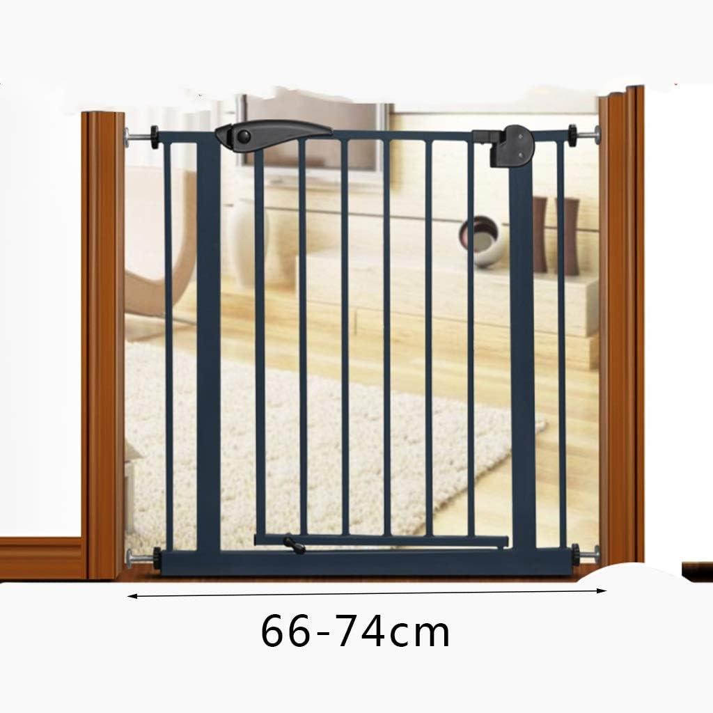 Puerta De Seguridad Para Niños, Barandilla De La Escalera Valla Del Bebé Valla De La Puerta Barandilla De Aislamiento Perforación Libre (Size : 66-74cm): Amazon.es: Bebé