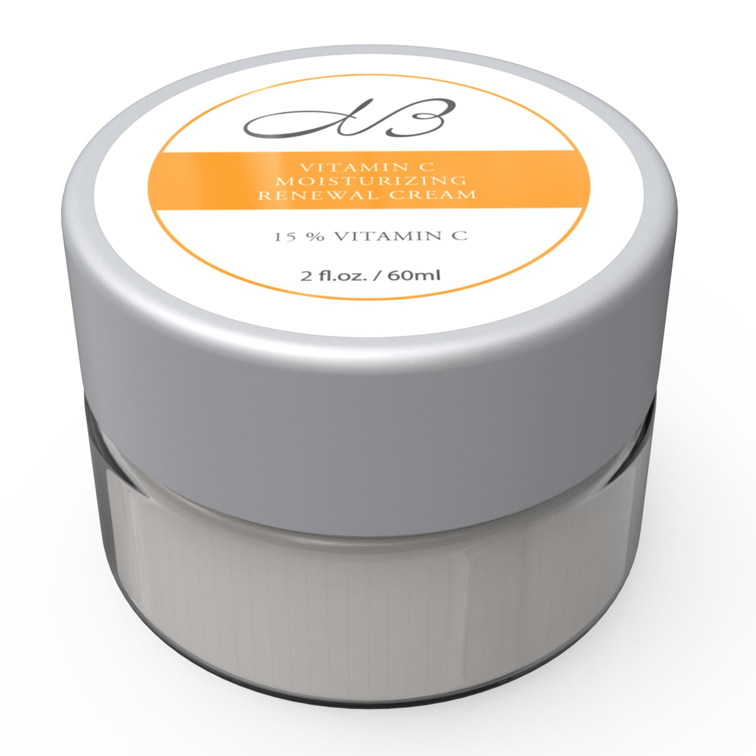 Monica's Beauty Vitamin C Moisturizing Renewal Cream with Shea Butter, Jojoba Oil and Sodium Ascorbyl Phosphate, 2 fl. oz.