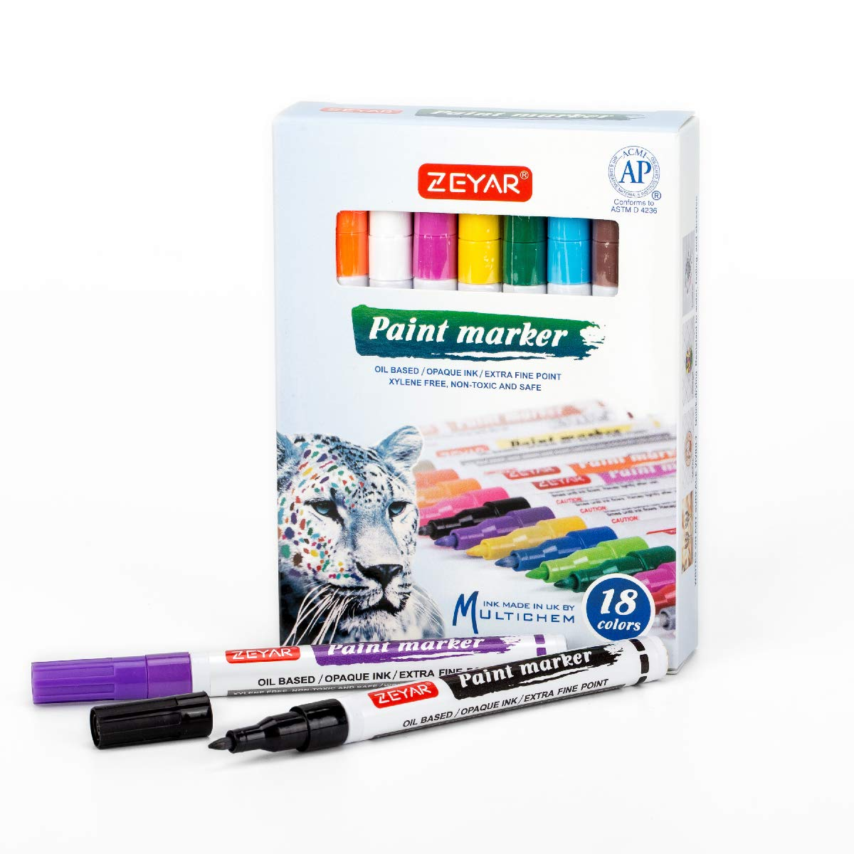 17 Colours Set of Permanent Metal Oil Based Marker Paint Pen Waterproof Opaque