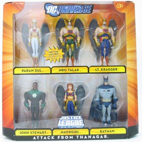 DC Universe Justice League Unlimited Exclusive Action Figure 6Pack Attack From Thanagar Paran Dul, Hro Talak, Lt. Kragger, John Stewart, Hawkgirl Batman by Mattel