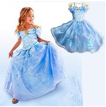 cd242379de1 Vicloong-Robe Princesse Déguisement Cendrillon Enfant Fille Robe de Soirée  Partie Halloween Carnaval Mignon Costume