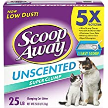 Scoop Away Super Clump with Ammonia Shield, Unscented Cat Litter, 25 Pound Carton (Pack of 3)