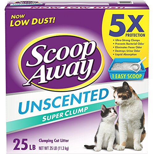 Scoop Away Super Clump with Ammonia Shield, Unscented Cat Litter, 25 Pound Carton (Pack of 2)