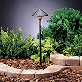 Kichler 15326AZT Six Groove Path & Spread 1-Light 12V, Textured Architectural Bronze