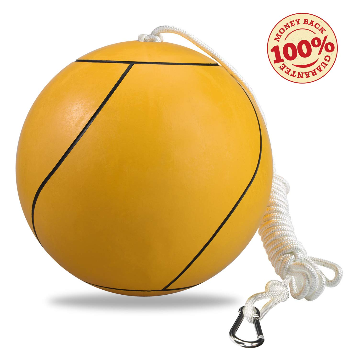 Mawelrate Tetherball Rope and Ball Set - Upgrade Your Volleyball Skills - Good for Spike Training - Portable Fun for The Park, Beach - Attach Swing Ball to Any Pole or Tree - 1pc by Mawelrate