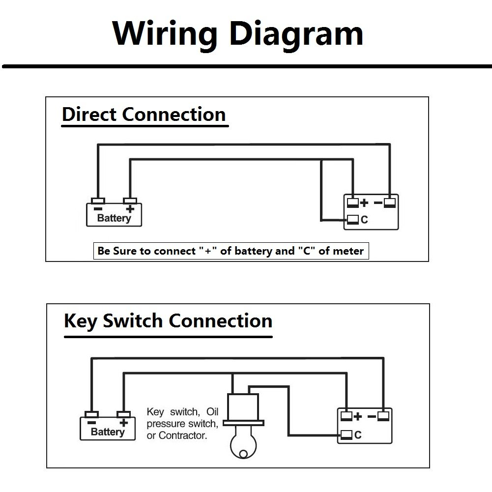Wiring Diagram Indicator : V battery meter wiring diagram