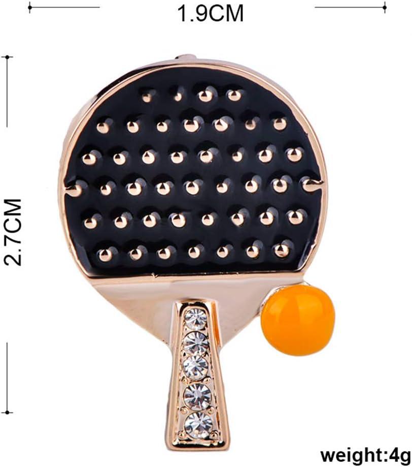 UIOXAIE Broche Vivid Ping Pong Paddle Table Tennis Forma de Pelota ...