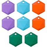 XY3.1 Item Finder by XY Findables   Find Your Lost Keys, Wallet, Phone, Etc   Low Energy 4.0 Bluetooth Tracker   Sleek Hex Design   QTY 8 (Amethyst (2), Aquamarine (2), Citrine (2), Jade (2))