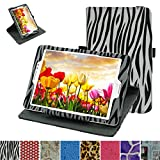 """Asus ZenPad S 8.0 Z580C Rotating Case,Mama Mouth 360 Degree Rotary Stand With Cute Lovely Pattern Cover For 8"""" Asus ZenPad S 8.0 Z580C Z580CA Android Tablet,Zebra Black"""