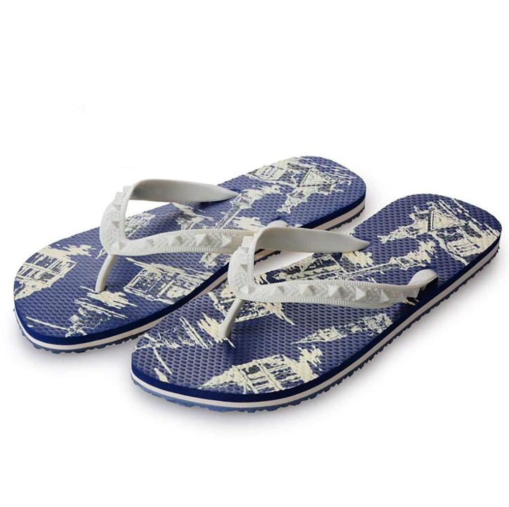 Som Shown FuweiEncore herrar Flip Flops Flops Flops strand Sandaler sommar Home Flat Slippers, 44 (Färg  Som visas, Storlek  43)  rabatt