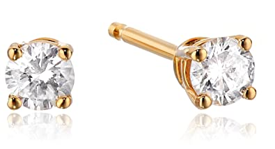 2535fcde9 Image Unavailable. Image not available for. Color: 1/5 cttw Diamond Stud  Earrings 14k Yellow Gold
