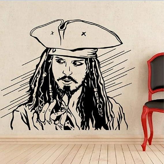 Etiqueta de la pared Etiqueta Engomada de vinilo Capitán Jack ...