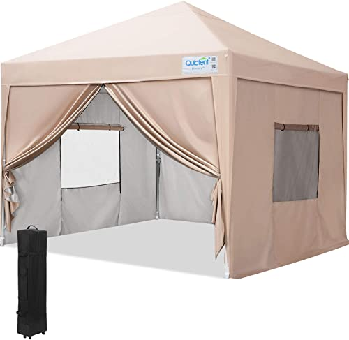 Quictent 10×10 EZ Pop Up Canopy Tent Instant Outdoor Event Gazebo Canopy