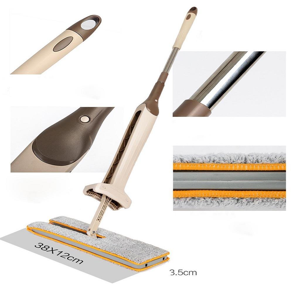 FTXJ Double-Side Dry and Wet Flat Mop Hands-Free Washable Home Floor Cleaner (Mop) by FTXJ (Image #7)