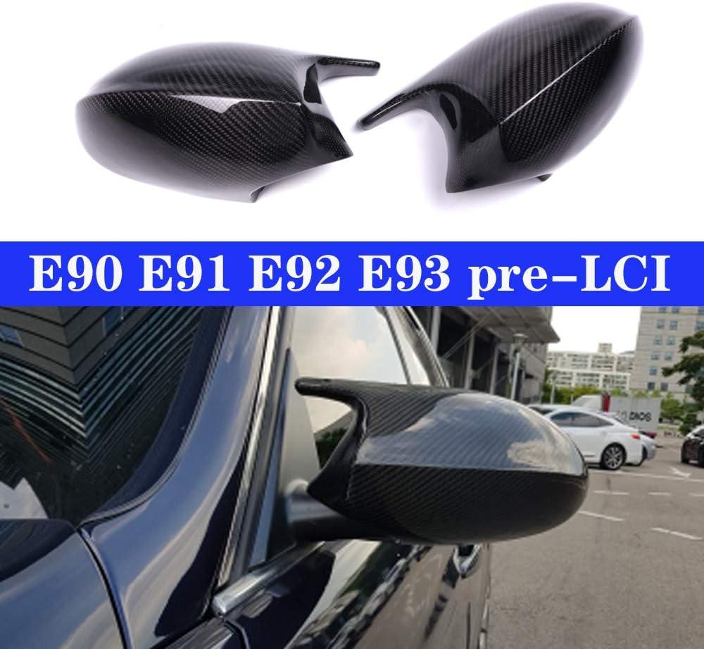 JXSMYBTB Echt Carbon Spiegelkappen Abdeckung T/ür Seite Ersatz M3 Style Cap./F/ür BMW 3er E90 E91 05 07 E92 E93 06 09 E81 E82 E87 E88