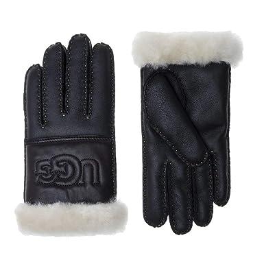 df8b6a0cec9a62 UGG® Sheepskin Logo Damen Handschuhe Schwarz: Amazon.de: Bekleidung