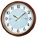SEIKO CLOCK ( Seiko clock ) wall clock Solar radio clock twin -Pas SF221B