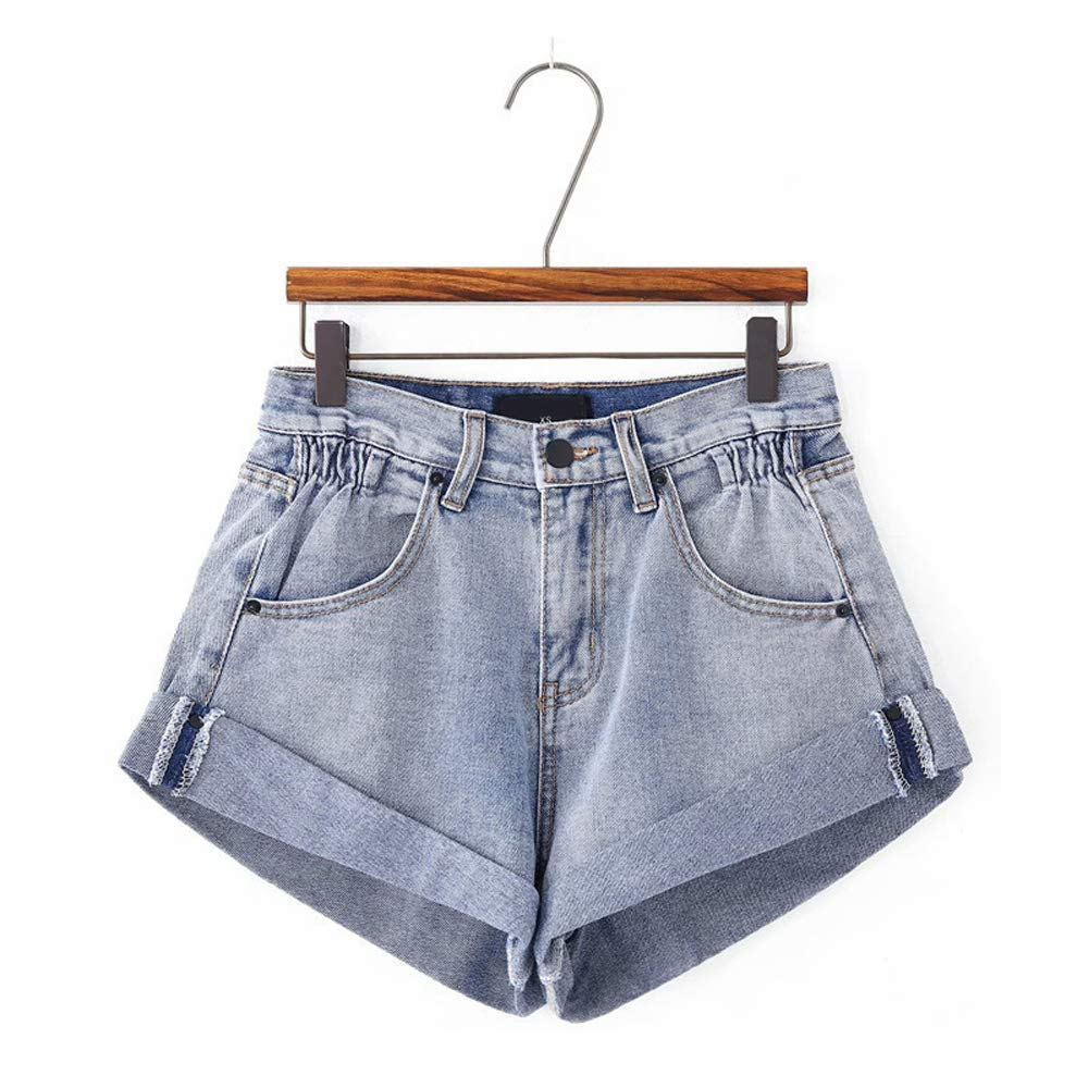 Vintage High Waist Denim Shorts Women Slim Casual Jeans Shorts Street Wear
