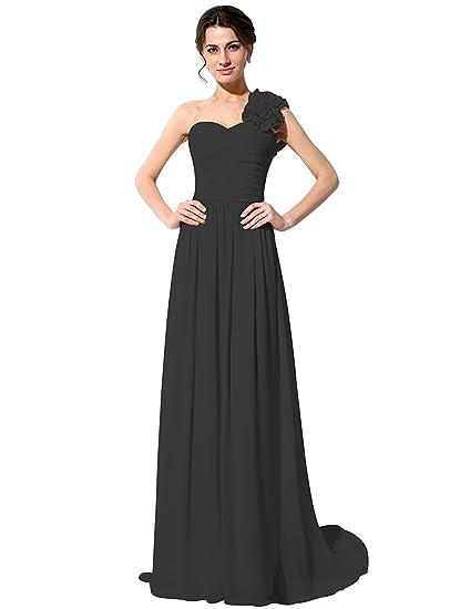 Sarahbridal Womens A Line Chiffon One Shoulder Bridesmaid Dresses