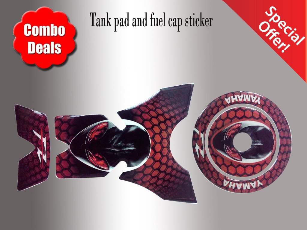 Combo fz yamaha alien customize vinyl tank pad fuel cap sticker amazon in car motorbike