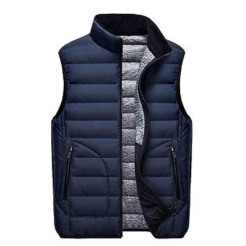 Para hombre chaleco acolchado ligero Packable Down Chaleco Chaleco Térmico relleno plumón de ganso chaqueta (L-4 X L, 7colour), azul, L: Amazon.es: Deportes ...
