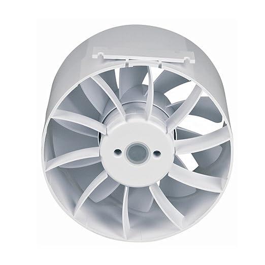 Belüftungsventilator Rundrohrlüfter Ventilator 150er weiß für Be und Entlüftung