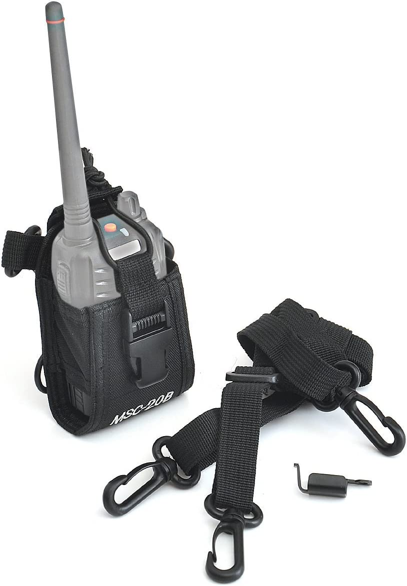TenqA 10pack Msc-20b Multi-functional Radio Case Pouch for Motorola Kenwood Midland Icom Yaesu Baofeng Two Way Radio
