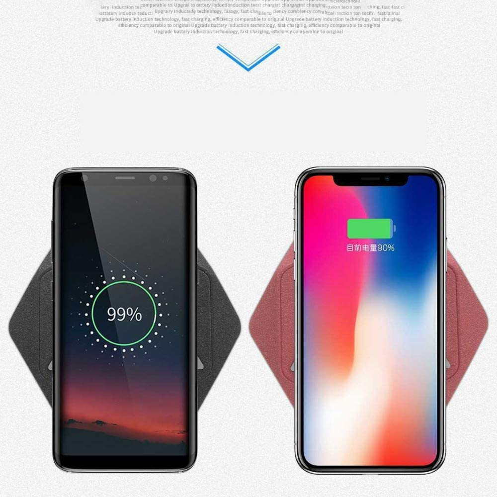 GJWHENS Draadloze oplader, Draadloze oplaadstandaard voor iPhone 8/8 Plus/XS/XS Plus, 10W Draadloos opladen voor Samsung Glalaxy S8 / S8+ / S9 / S9+ / S10 /S10+ A