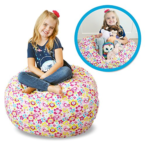 Soothing Company Stuffed Animal Bean Bag Chair for Kids - Extra Large Empty Beanbag - Kid Toy Storage Covers for Your Child