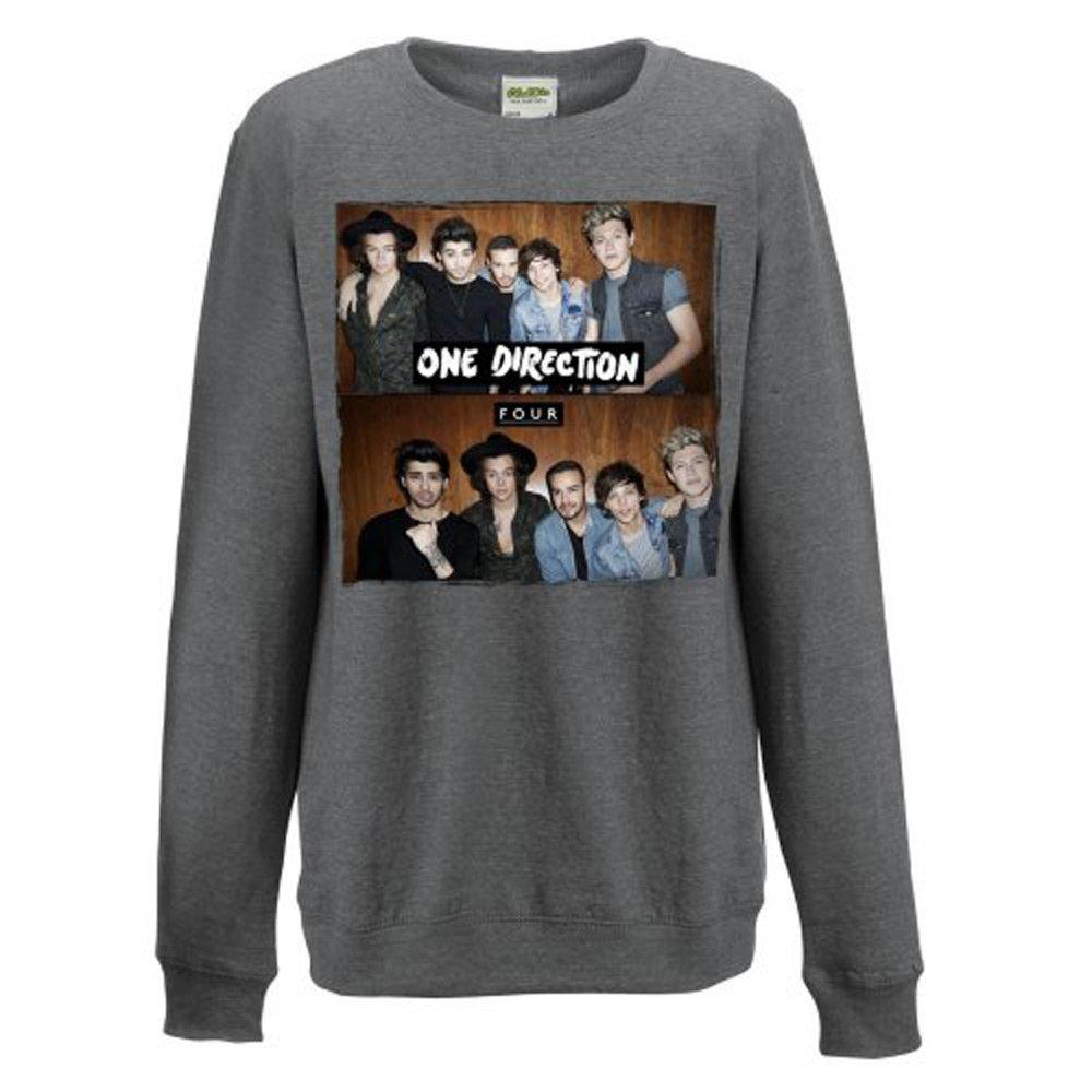 One Direction Four Ladies Grey Sweatshirt: Medium