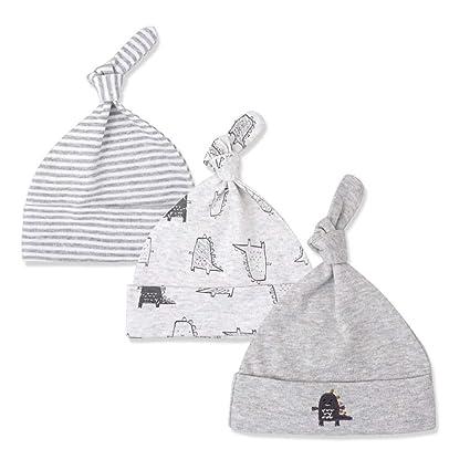 Hergon - Gorro de algodón con diseño de Nudo de bebé recién Nacido ...