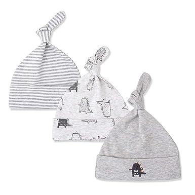 701608cacc7 Hergon 07 3Pcs Set Newborn Baby Knot Cotton Hat