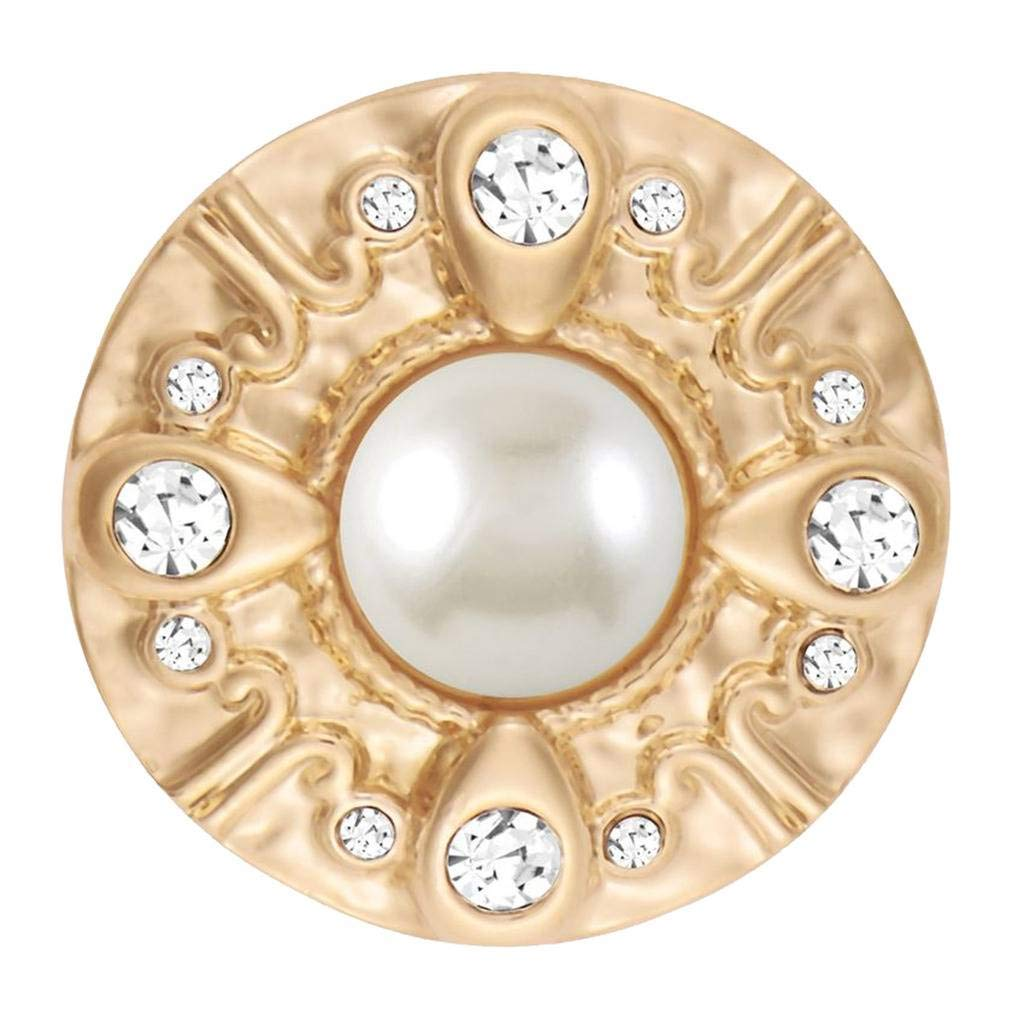 Gold Sydney Pearl SN31-55 Simulated Interchangeable Jewelry Accessories Standard Size Ginger Snaps