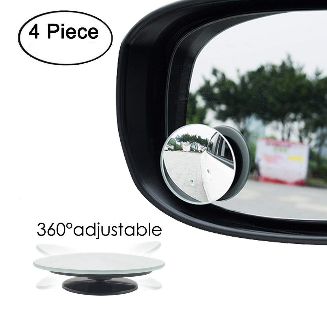 """2 PC ROUND 2/"""" STICK ON BLIND SPOT CONVEX WIDE ANGLE  MIRRORS CAR TRUCK SUV"""