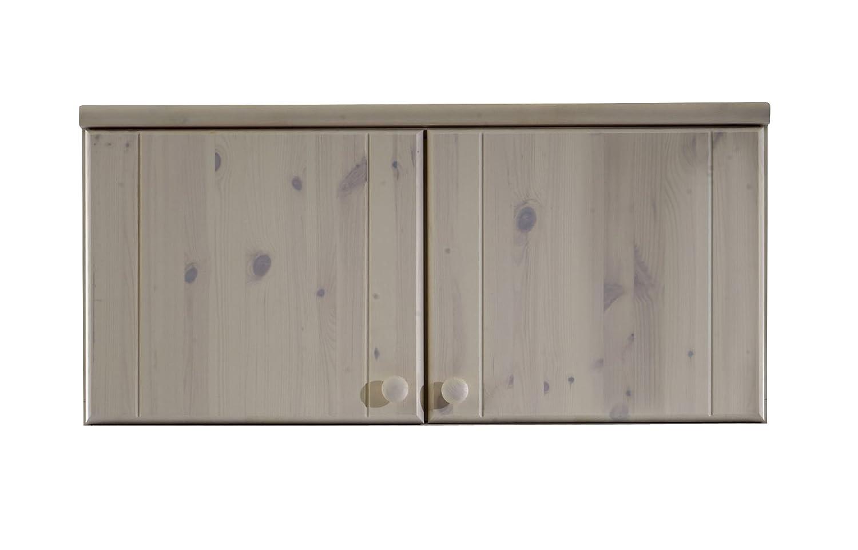 Steens Kleiderschrankaufsatz Ribe, 2-türig, (B H T) 100 100 100 x 46 x 60 cm, Kiefer massiv, Weiß 22cd0d