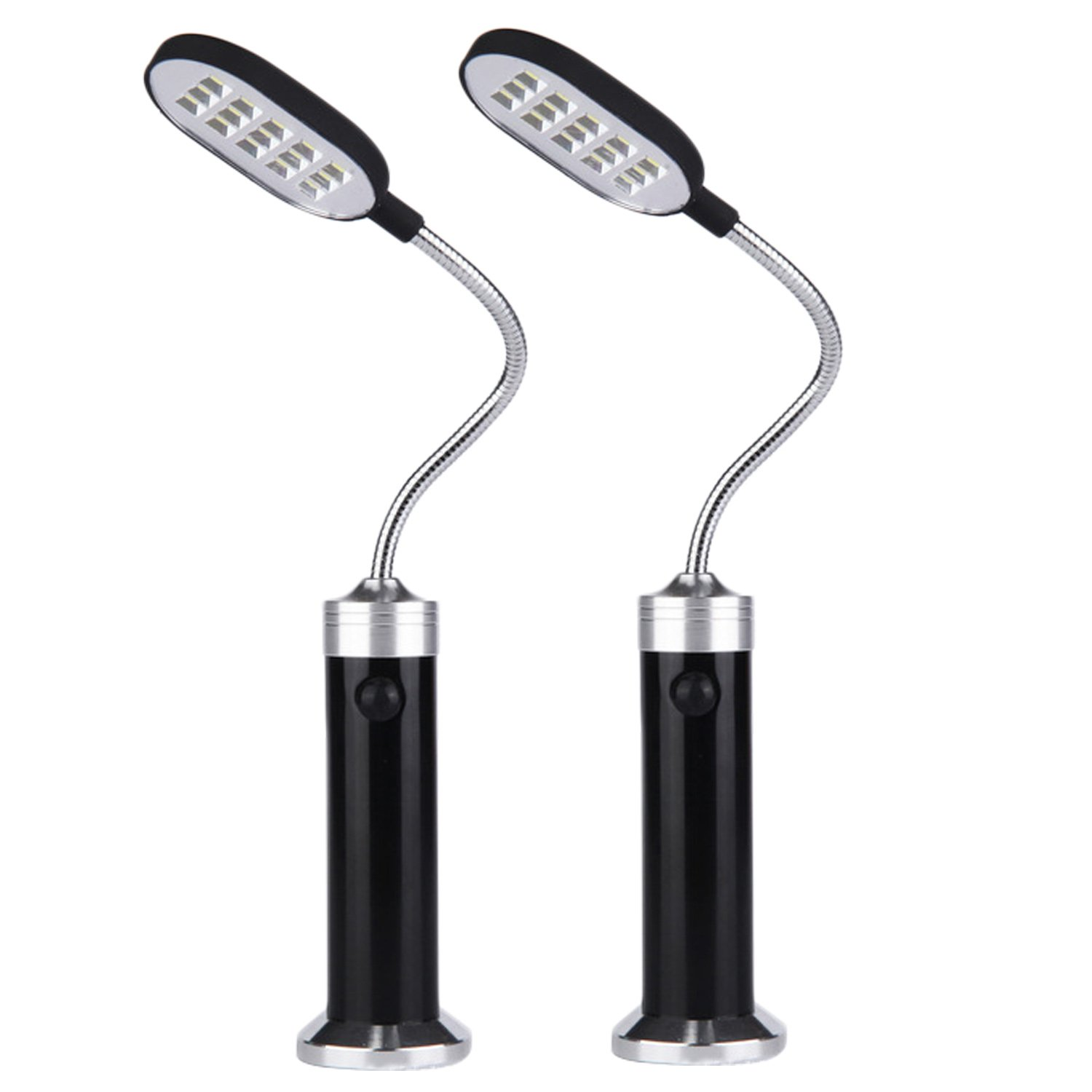 Barbeque Light, 2pcs Portable Magnetic 360 Degree Adjustable LED Light Lamp with 15 LED for BBQ Barbecue Grilling Outdoor Grill Accessories Tools Migavan