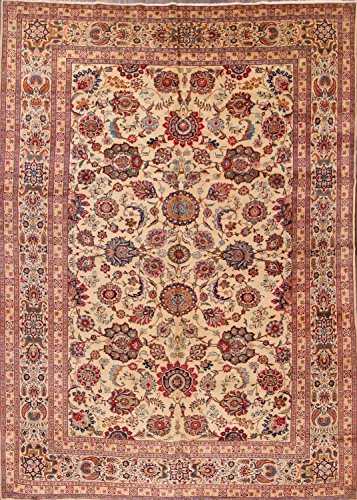 9x12 Kashan Hand Made Traditional Shah Abbasi Persian Area Rug (12' 2'' x 8' (Gold Medallion Kashan Rug)