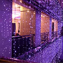 8 Modes Choice 10m X 4m 1280 LED Indoor / Outdoor Party String Fairy Wedding Curtain Light Christmas Xmas Decoration New Year Decoration 110v (Purple)