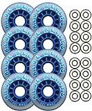 Blue Bellys 76mm 78a Roller Inline Skate Wheels ABEC 9s