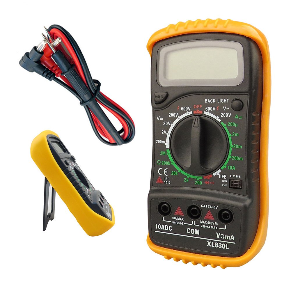 Taha Digital Lcd Multimeter Voltmeter Ammeter Ohm Ac Dc Circuit Electronics Test For A Series Including Checker Tester With Buzzer Business Industry Science