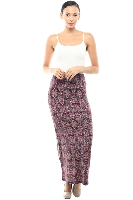 2LUV Women's Mix Print Maxi Skirt