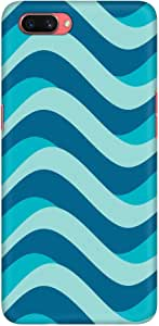 Stylizedd Oppo A3s Slim Snap Basic Case Cover Matte Finish - Curvy Blue