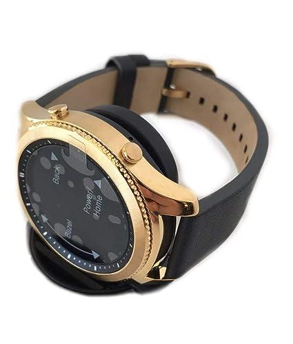 Amazon.com: Reloj inteligente Gear S3 bañado en oro de 24 ...