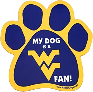 product image for NCAA West Virginia Mountaineers Paw Print Car Magnet