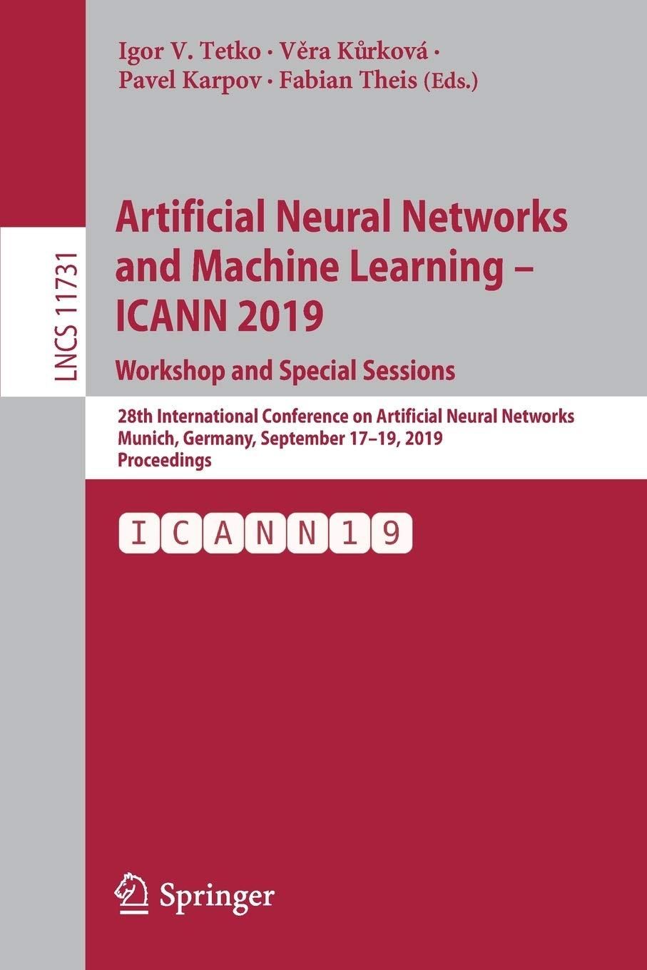 Artificial Neural Networks and Machine Learning