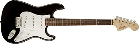 Squier by Fender Affinity Series Stratocaster HSS Electric Guitar - Laurel Fingerboard - Montego Black Metallic: Amazon.es: Instrumentos musicales