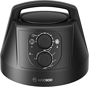 Air Fryer Lid for Instant Pot, MOOSOO Pressure Cooker 6 QT, Turn Your Electric Pressure Cooker Into Air Frye, 95% Less Oil & Knob Control Easy To Use With Deluxe Accessory Set, 1300W
