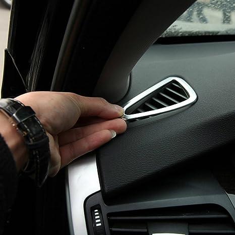 Accesorios del coche Dashboard Air Vent Outlet Cover Trim marco adhesivo ABS cromo para la mano